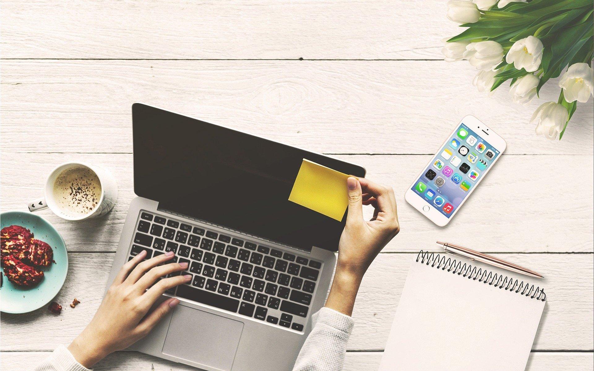 лаптоп, работа, работи с мен, блогър