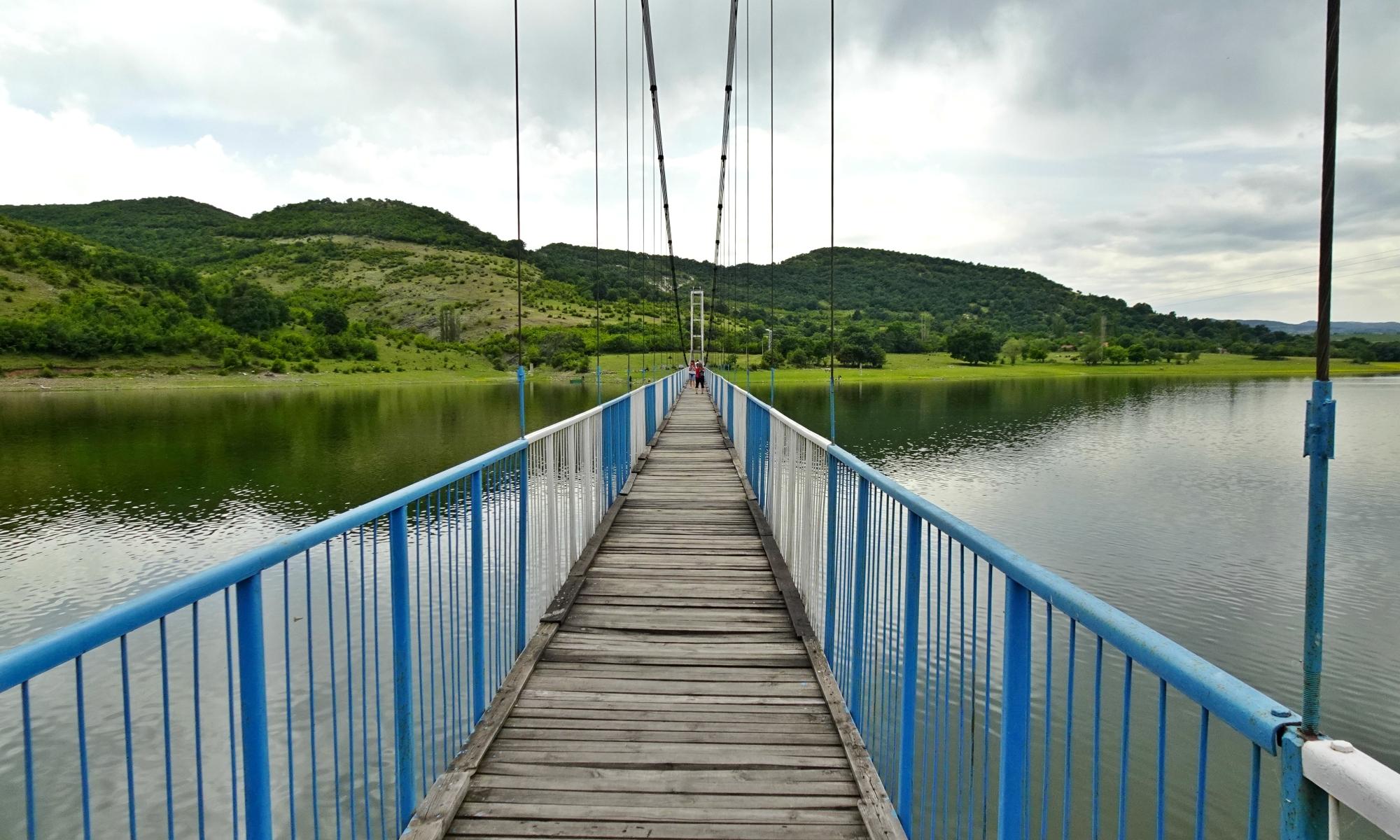 въжен мост към село Лисиците