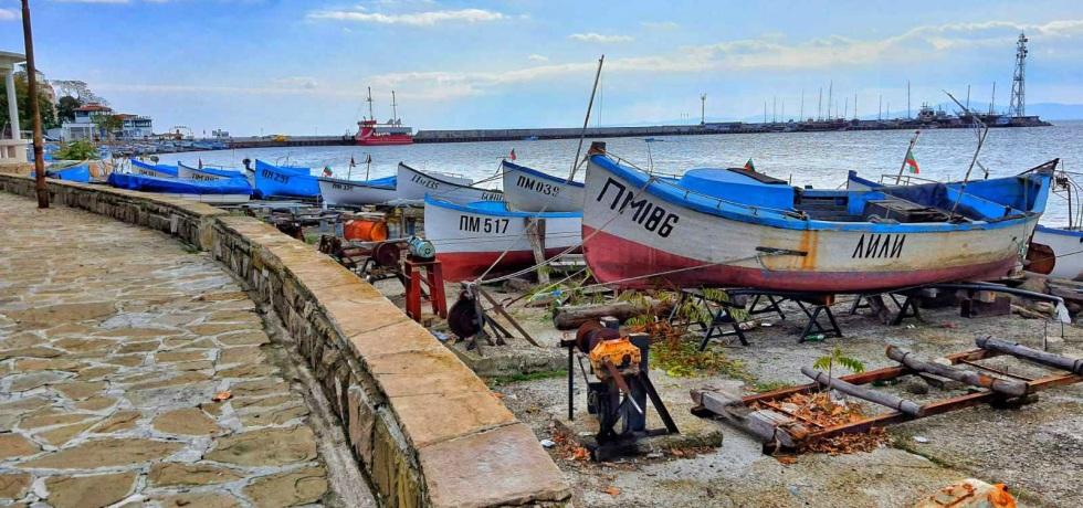 Поморие, море, лодки