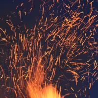 дим, разказ, огън